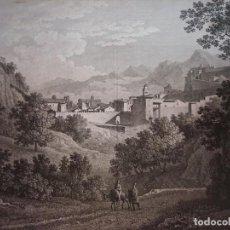 Arte: ESPLÉNDIDO GRABADO VISTA GENERAL TORTOSA, TARRAGONA, CATALUÑA, LABORDE, LEIPZIG, 1811, BUEN ESTADO. Lote 295525433