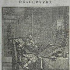 Arte: EL ESCRITOR, 1736. LUYKEN. Lote 295530038