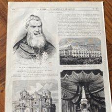 Arte: XILOGRAFÍA 1872. FILIPINAS. 4 GRABADOS EN UNA HOJA. NUEVA CÁCERES Y MANILA. Lote 295913573