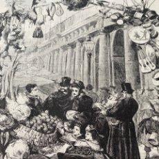 Arte: XILOGRAFÍA 1872. MADRID LA PLAZA MAYOR EN LOS DÍAS DE NAVIDAD. Lote 295915528