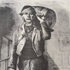Arte: XILOGRAFÍA 1872. TIPOS DE MADRID EL AGUADOR.. Lote 295915678