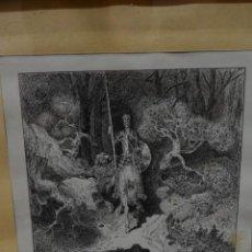 Arte: GRABADO A MANO DON QUIJOTE FIRMADO POR AUTOR J. GALLART 1957. Lote 296023353