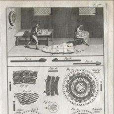 Arte: FABRICANTES DE UTENSILIOS DE CRIBAS I, 1787. BERNARD / DIDEROT / D'ALEMBERT. Lote 296699728