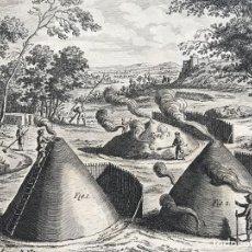 Arte: ANTIGUA FABRICACIÓN DE CARBÓN, HACIA 1734. ANÓNIMO. Lote 296717363