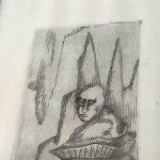 Arte: INTERESANTE GRABADO FIRMADO Y FECHADO A DOCUMENTAR. Lote 296800253