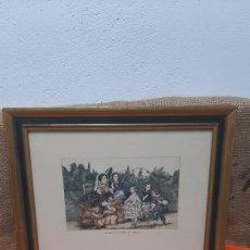 Arte: ANTIGUO GRABADO FRANCES LE SAUT A LA CORDE SIGLO XIX. Lote 296845178