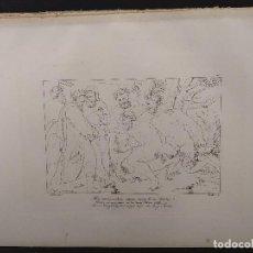 Arte: SILENO Y EL REY MIDAS, RAFAEL SANZIO, GRABADO COBRE Nº 157, FIRMIN DIDOT 1844. MITOLOGICO. Lote 297161368