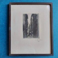 """Arte: SIMO BUSOM """"CALLES DE BARCELONA"""" 1977. Lote 297163478"""