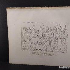 Arte: ALEJANDRO Y HOMERO, RAFAEL SANZIO, GRABADO COBRE Nº 158, FIRMIN DIDOT 1844. MITOLOGICO. Lote 297163898