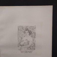 Arte: RETRATO DE LA AMADA, RAFAEL SANZIO, GRABADO COBRE Nº 159, FIRMIN DIDOT 1844.. Lote 297164353