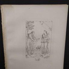 Arte: DOS SIBILAS, RAFAEL SANZIO, GRABADO COBRE Nº 160, FIRMIN DIDOT 1844. MITOLOGICO. Lote 297164548