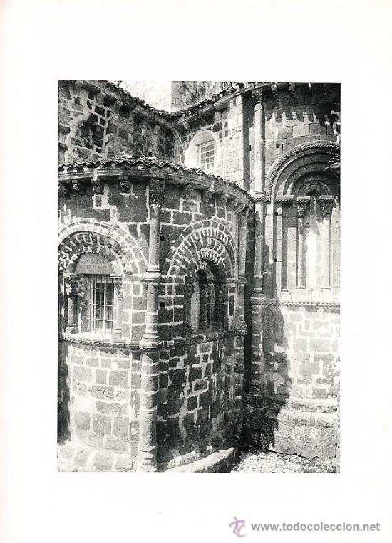LAMINA EN HUECOGRABADO 25X32 FOT.HAUSER Y MENET COLEGIATA DE SANTILLANA SANTANDER (Arte - Huecograbado)