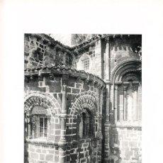 Arte: LAMINA EN HUECOGRABADO 25X32 FOT.HAUSER Y MENET COLEGIATA DE SANTILLANA SANTANDER. Lote 12809339