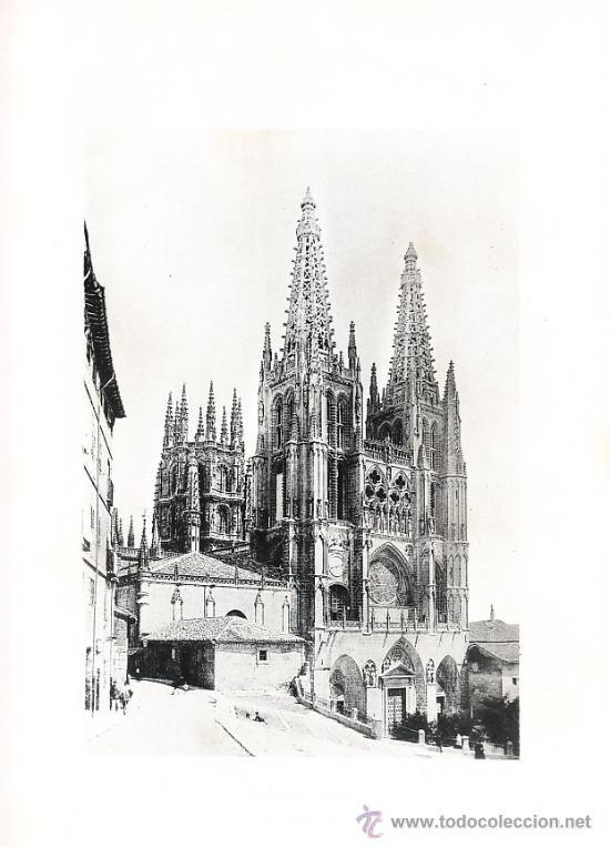 LAMINA EN HUECOGRABADO 25X32 FOT.HAUSER Y MENET BURGOS LA CATEDRAL (Arte - Huecograbado)