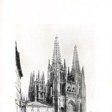 Arte: LAMINA EN HUECOGRABADO 25X32 FOT.HAUSER Y MENET BURGOS LA CATEDRAL. Lote 12810095