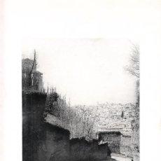 Arte: LAMINA EN HUECOGRABADO 25X32 FOT.HAUSER Y MENET GRANADA VISTA DESDE LA CUESTA DE LOS MUERTOS. Lote 12810120