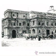 Arte: LAMINA EN HUECOGRABADO 25X32 FOT.HAUSER Y MENET SEVILLA PALACIO DEL AYUNTAMIENTO. Lote 12810204