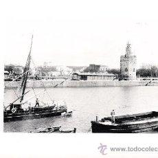 Arte: LAMINA EN HUECOGRABADO 25X32 FOT.HAUSER Y MENET SEVILLA LA TORRE DEL ORO. Lote 12810229