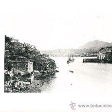 Arte: LAMINA EN HUECOGRABADO 25X32 FOT.HAUSER Y MENET SAN SEBASTIAN VISTA DESDE EL CASTILLO DE STª. ISABE. Lote 12810249