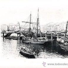 Arte: LAMINA EN HUECOGRABADO 25X32 FOT.HAUSER Y MENET SANTANDER EL PUERTO. Lote 12810262