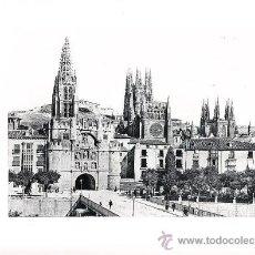 Arte: LAMINA EN HUECOGRABADO 25X32 FOT.HAUSER Y MENET BURGOS PUERTA DE SANTA MARTA. Lote 12810319
