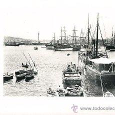 Arte: LAMINA EN HUECOGRABADO 25X32 FOT.HAUSER Y MENET BARCELONA DETALLE DEL PUERTO. Lote 12810344