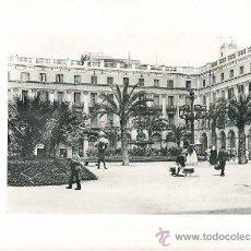 Arte: LAMINA EN HUECOGRABADO 25X32 FOT.HAUSER Y MENET BARCELONA PLAZA REAL. Lote 12810376