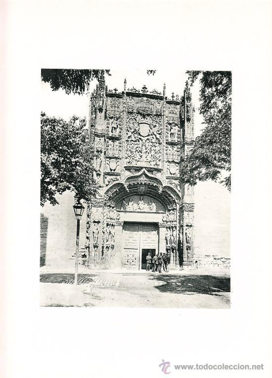 LAMINA EN HUECOGRABADO 25X32 FOT.HAUSER Y MENET VALLADOLID FACHADA DE SAN GREGORIO (Arte - Huecograbado)