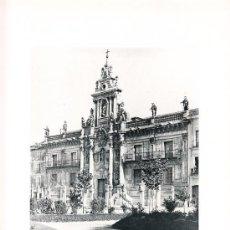 Arte: LAMINA EN HUECOGRABADO 25X32 FOT.HAUSER Y MENET VALLADOLID LA UNIVERSIDAD. Lote 12810411