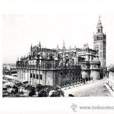 Arte: LAMINA EN HUECOGRABADO 25X32 FOT.HAUSER Y MENET SEVILLA LA CATEDRAL. Lote 12810516