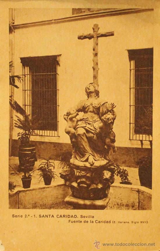 Arte: ANTIGUAS POSTALES EN HUECOGRABADO DEL HOSPITAL DE SANTA CARIDAD DE SEVILLA SERIE 2ª - Foto 2 - 30575022