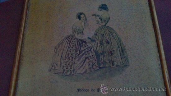 Arte: CUADRO MODES DE PARIS CON LEYENDA 15 FEVRIER 1843 - Foto 10 - 35543372
