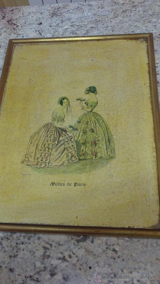 Arte: CUADRO MODES DE PARIS CON LEYENDA 15 FEVRIER 1843 - Foto 3 - 35543372