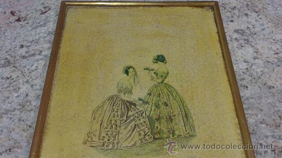 Arte: CUADRO MODES DE PARIS CON LEYENDA 15 FEVRIER 1843 - Foto 8 - 35543372