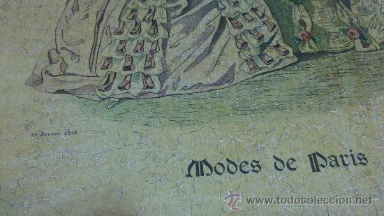 Arte: CUADRO MODES DE PARIS CON LEYENDA 15 FEVRIER 1843 - Foto 7 - 35543372