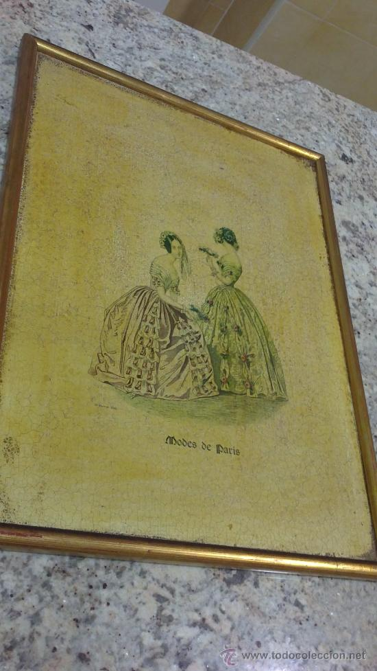 Arte: CUADRO MODES DE PARIS CON LEYENDA 15 FEVRIER 1843 - Foto 5 - 35543372