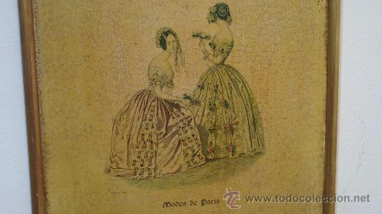 Arte: CUADRO MODES DE PARIS CON LEYENDA 15 FEVRIER 1843 - Foto 2 - 35543372
