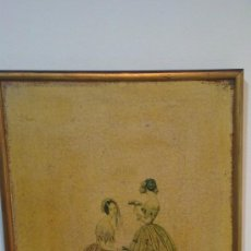 Arte: CUADRO MODES DE PARIS CON LEYENDA 15 FEVRIER 1843. Lote 35543372