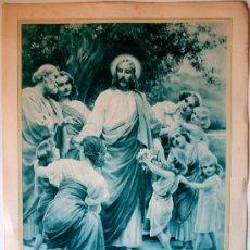 Arte: PRECIOSO HUECOGRABADO MUMBRÚ. RESURECCIÓN DEL SEÑOR (MURILLO, PINXIT) ANTIGUA . Lote 35820368