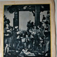 Arte: HUECOGRABADO MUMBRÚ. NACIMIENTO DE NUESTRO SEÑOR JESUCRISTO, LORENZO DI CREDI PINXIT. Lote 42396601