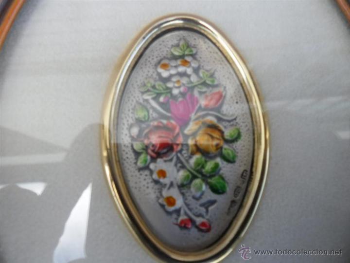 Arte: cuado exagonal con flores es de plata - Foto 2 - 42672138