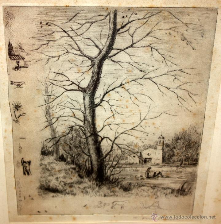 Arte: ANTONI OLLÉ PINELL (Barcelona 1897 - 1981) AGUAFUERTE Y PUNTA SECA FIRMADO A LÁPIZ. AÑOS 50 - Foto 3 - 49750135