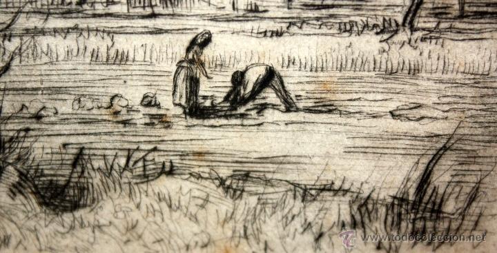 Arte: ANTONI OLLÉ PINELL (Barcelona 1897 - 1981) AGUAFUERTE Y PUNTA SECA FIRMADO A LÁPIZ. AÑOS 50 - Foto 5 - 49750135