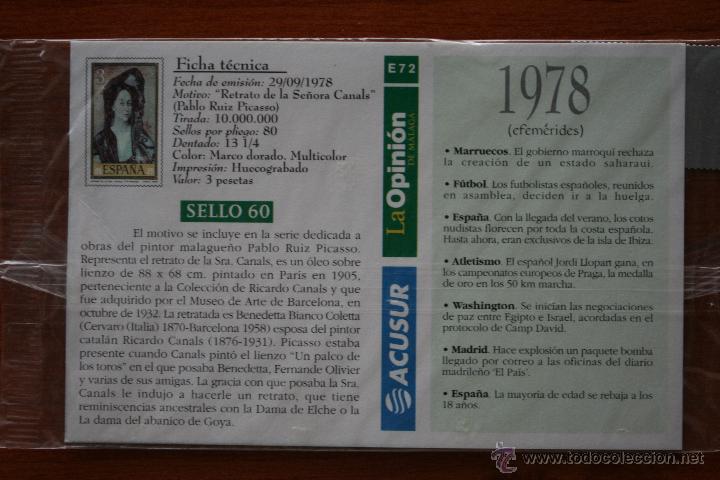 Arte: SELLO TROQUELADO DE METAL HUECOGRABADO: RETRATO LA SEÑORA CANALS – FICHA TECNICA HISTORIA - POSTAL - Foto 3 - 54926507