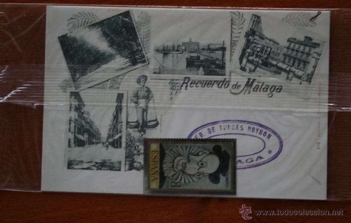 Arte: SELLO TROQUELADO DE METAL HUECOGRABADO: RETRATO JAIME SABARTES – FICHA TECNICA HISTORIA - POSTAL - Foto 2 - 54926552
