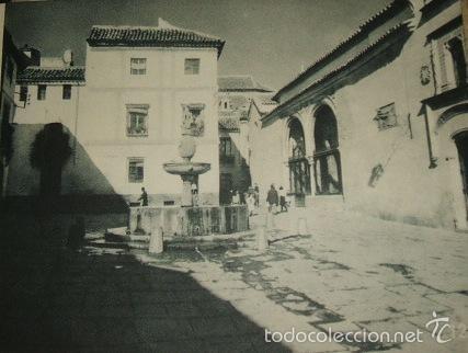 CORDOBA PLAZA DEL POTRO HUECOGRABADO AÑOS 40 (Arte - Huecograbado)