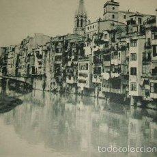 Arte: GERONA VISTA DE LA CIUDAD HUECOGRABADO AÑOS 40. Lote 58190643