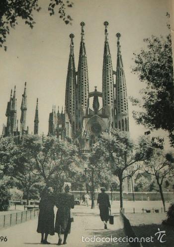BARCELONA SAGRADA FAMILIA HUECOGRABADO AÑOS 40 (Arte - Huecograbado)