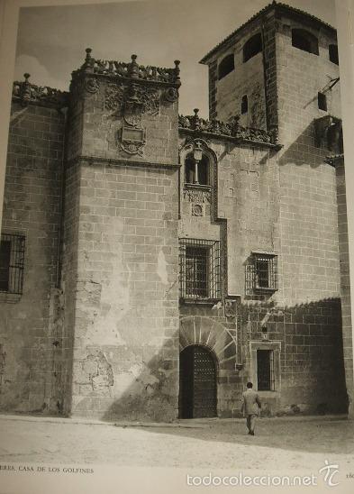 CACERES PALACIO HUECOGRABADO AÑOS 40 (Arte - Huecograbado)