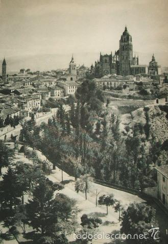 SEGOVIA VISTA DE LA CIUDAD HUECOGRABADO AÑOS 40 (Arte - Huecograbado)
